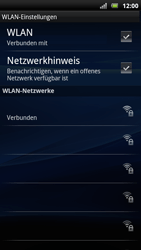 Sony Ericsson Xperia Arc S - WLAN - Manuelle Konfiguration - Schritt 9