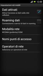 Sony Xperia J - Internet e roaming dati - Disattivazione del roaming dati - Fase 7