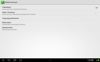 Samsung P5100 Galaxy Tab 2 10-1 - Ausland - Im Ausland surfen – Datenroaming - Schritt 8