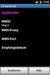 Samsung Galaxy Ace i - MMS - Automatische Konfiguration - 7 / 12