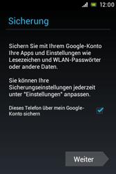 Sony Xperia Miro - Apps - Konto anlegen und einrichten - Schritt 15