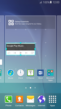 Samsung Galaxy A8 - Getting started - Installing widgets and applications on your start screen - Step 8