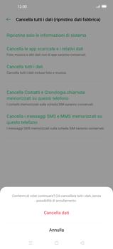 Oppo Find X2 - Dispositivo - Ripristino delle impostazioni originali - Fase 10