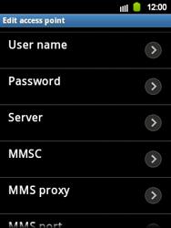 Samsung Galaxy Y - Internet and data roaming - Manual configuration - Step 11