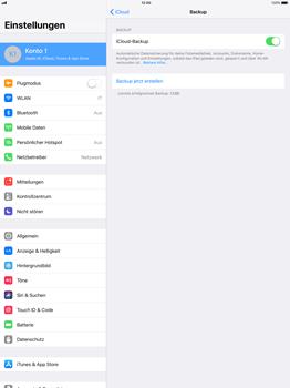 Apple iPad Pro 12.9 inch - Software - Eine iCloud-Sicherheitskopie erstellen und an ein neues Gerät übertragen - 9 / 10