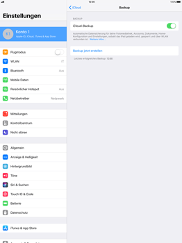 Apple iPad Pro 12.9 inch - Software - iCloud synchronisieren - 9 / 10