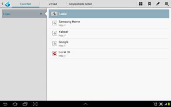 Samsung Galaxy Tab 2 10.1 - Internet und Datenroaming - Verwenden des Internets - Schritt 11
