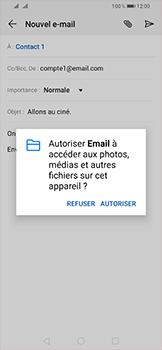 Huawei P Smart (2019) - E-mail - envoyer un e-mail - Étape 10