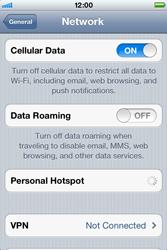 Apple iPhone 4 S - Internet - Disable data roaming - Step 5