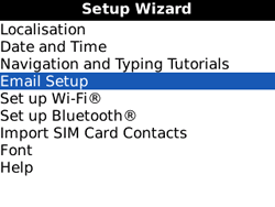 BlackBerry 8520 Curve - E-mail - Manual configuration - Step 5
