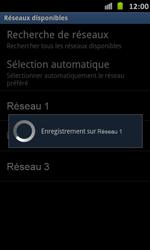 Samsung Galaxy S Advance - Réseau - Sélection manuelle du réseau - Étape 10