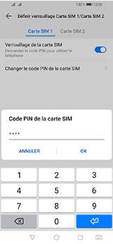 Huawei Y6 (2019) - Sécuriser votre mobile - Personnaliser le code PIN de votre carte SIM - Étape 10