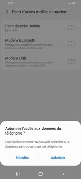 Samsung Galaxy A42 5G - Internet et connexion - Utiliser le mode modem par USB - Étape 7