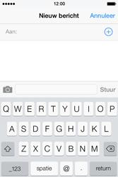 Apple iPhone 4 S iOS 7 - MMS - Afbeeldingen verzenden - Stap 3