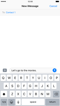 Apple Apple iPhone 6s Plus iOS 10 - iOS features - Send iMessage - Step 12