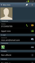 Samsung Galaxy Note 2 - Contact, Appels, SMS/MMS - Utiliser la visio - Étape 5
