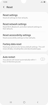 Samsung Galaxy A50 - Mobile phone - Resetting to factory settings - Step 6