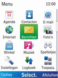 Nokia X2-00 - SMS - Handmatig instellen - Stap 3