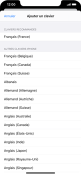 Apple iPhone XR - iOS 13 - Prise en main - Comment ajouter une langue de clavier - Étape 7