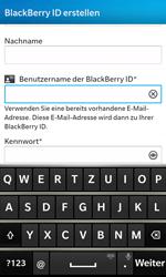 BlackBerry Z10 - Apps - Konto anlegen und einrichten - Schritt 10