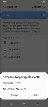 Samsung Galaxy A70 - Internet et connexion - Connexion avec un équipement multimédia via Bluetooth - Étape 9
