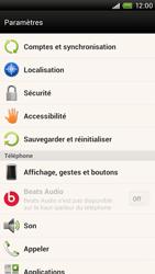 HTC One X - Téléphone mobile - Réinitialisation de la configuration d