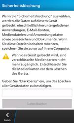 BlackBerry Z10 - Gerät - Zurücksetzen auf die Werkseinstellungen - Schritt 7
