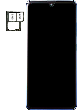 Samsung Galaxy A41 - Premiers pas - Insérer la carte SIM - Étape 5