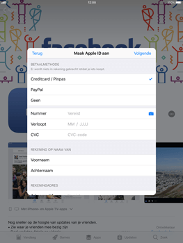 Apple ipad-air-met-ios-11-model-a1475 - Applicaties - Account aanmaken - Stap 15