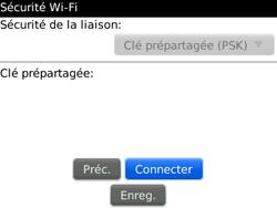 BlackBerry curve 3G - Internet et connexion - Accéder au réseau Wi-Fi - Étape 9