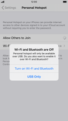 Apple iPhone 8 - iOS 14 - WiFi - How to enable WiFi hotspot - Step 7