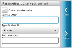 HTC A810e ChaCha - E-mail - Configuration manuelle - Étape 8