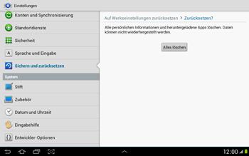 Samsung Galaxy Note 10-1 - Fehlerbehebung - Handy zurücksetzen - 2 / 2
