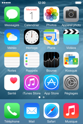 Apple iPhone 4S (iOS 8) - Contact, Appels, SMS/MMS - Envoyer un MMS - Étape 2