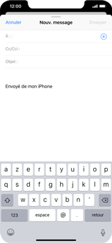 Apple iPhone XR - E-mails - Envoyer un e-mail - Étape 4