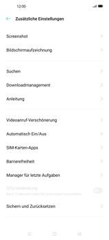Oppo Find X2 - Gerät - Zurücksetzen auf die Werkseinstellungen - Schritt 5