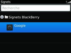 BlackBerry 9360 Curve - Internet - Navigation sur Internet - Étape 8