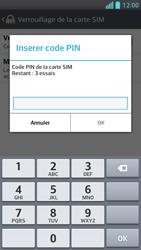 LG Optimus F5 - Sécuriser votre mobile - Personnaliser le code PIN de votre carte SIM - Étape 7