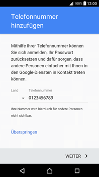 Sony Xperia XA Ultra - Apps - Konto anlegen und einrichten - 14 / 22