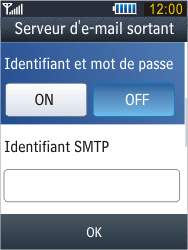 Samsung B3410 Star Qwerty - E-mail - Configuration manuelle - Étape 22