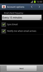 Samsung Galaxy S II - E-mail - Manual configuration - Step 15