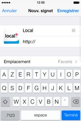 Apple iPhone 4S iOS 7 - Internet et roaming de données - navigation sur Internet - Étape 16
