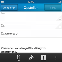BlackBerry Q10 - E-mail - E-mail versturen - Stap 6