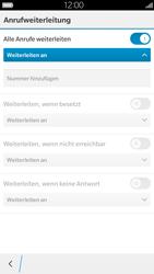 BlackBerry Leap - Anrufe - Rufumleitungen setzen und löschen - 9 / 13