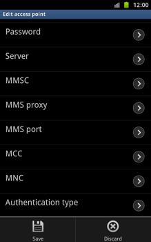 Samsung N7000 Galaxy Note - Internet - Manual configuration - Step 10