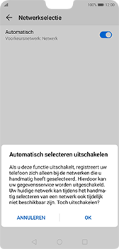 Huawei P20 - Android Pie - netwerk en bereik - gebruik in binnen- en buitenland - stap 7