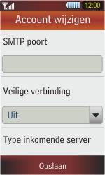 Samsung S5230 Star - E-mail - Handmatig instellen - Stap 9