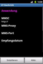 Samsung S5690 Galaxy Xcover - MMS - Automatische Konfiguration - Schritt 7