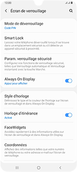 Samsung Galaxy A70 - Sécuriser votre mobile - Activer le code de verrouillage - Étape 13