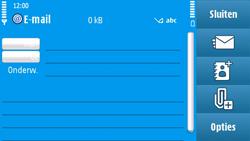 Nokia N97 - e-mail - hoe te versturen - stap 7